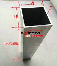 "40x80/ 50x50/ 60x80 mm ALUMINUM SQUARE TUBE PIPE 6061 T6 Tubing 12"" 300mm Length"