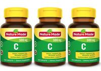 Nature Made Vitamin C 500 mg, 100 Caplets - 3 Packs
