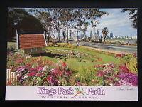 KINGS PARK FLOWER CLOCK PERTH WESTERN AUSTRALIA STEVE PARISH 1995 POSTCARD