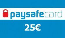 Paysafe Card Guthaben 25€ Voucher Ladebon Gutscheincode - Elektronischer Versand