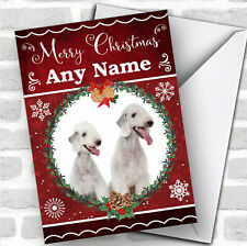 Bedlington Terrier Dog Traditional Animal Customised Christmas Card