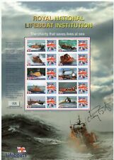 Buckingham Stamp Sheet - RNLI Lifeboats- Signed by Sir Chay Blyth