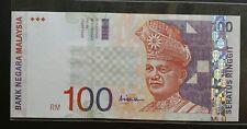 MALAYSIA 10TH RM100 AR6145018 ALI CENTRE SIGN  AUNC