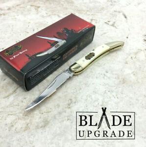 Frost Steel Warrior Toothpick White Bone Handle Folding Knife SW109WSB