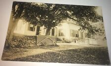 Antique American Landscape, Homestead, Lady & Pet Dog! Real Photo Postcard RPPC!