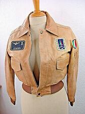 Original Aeronautica Militare Made in Italy Lederjacke unisex Jungen Mädchen AE