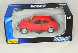 Maisto 31926 Volkswagen Beetle Special Edition 1:24 Scale Die-Cast Model Car Red
