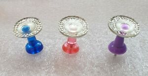 HANDMADE ROUND SHINY RESIN PUSH PINS THUMB TACKS 4 SCHOOL OFFICE NOTICE BOARD