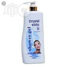 🌼1X CRYSTAL WHITE WHITENING 💡SHOWER GEL 1000ML 🇬🇧 UK BUYERS &🇪🇺EUROPE💪