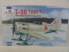 Russische I-16 Type 6 m. Kufenfahrwerk  - Amodel  Bausatz 1:72 - 72164  #E