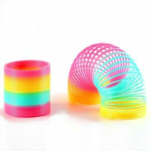 Rainbow Slinky Spring Toy Magic Colorful Circle Coil Kids Stretchy Children Toys