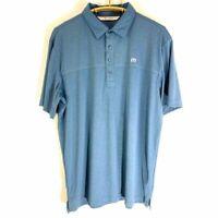 Travis Matthew Men's Golf Polo Blue SZ XL