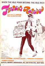 """FINIAN'S RAINBOW Sheet Music """"When Idle Poor Become Idle Rich"""" Fred Astaire"""