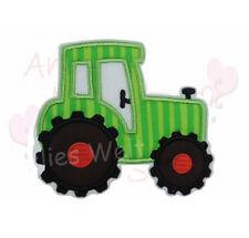 Traktor Trekker grün Applikation Aufbügler Aufnäher Patch Bügelbild Sticker