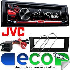 Fiat Grande Punto JVC KD-R482 CD MP3 USB Aux iPod Car Stereo & BLACK Fitting Kit