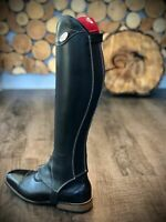 Reitstiefel Boxer Dosen Modell aus Kalbsleder Glattleder Tattini