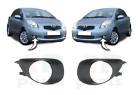 FOR TOYOTA YARIS II 2006 - 2009 NEW FRONT BUMPER FOGLIGHT GRILLE PAIR SET