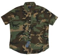 Polo Ralph Lauren Men Short Sleeve Classic Fit Military Camo Oxford Shirt XL NWT