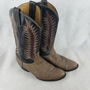 TONY LAMA Vintage Rare EXOTIC 8601 Elephant Gray Cowboy Boots Mens Size 9E