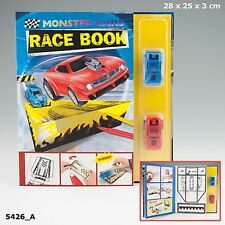 Depesche 5426_A CRAFTBOOK monstercars Race Book with 2 Race Cars for Boys