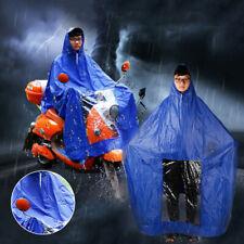 Waterproof Motorcycle Raincoat Scooter Mobility Rain Biker Coat Cape Poncho PVC