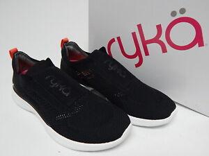 Ryka Myla Size 9.5 M EU 39.5 Women's Stretch Knit Slip-On Casual Sneakers Black