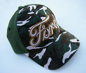 camo FORD TRUCK LOGO Camouflage Military Hunting Adjustable Baseball Hat Cap NWT