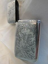 Estate Sterling Silver MATCH SAFE / MATCH HOLDER with Bottom Striker Farm House
