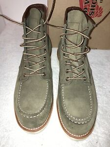 """RED WING Green Moc Toe Loden Abilene Heritage 6"""" Boots 8857 Sz 10D Factory 1sts"""