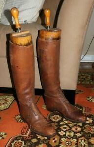 Maxwell Dover Street London Antique Boot Tree Tensioners &  Leather Riding Boots