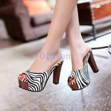Stripe 2018 Womens Peep Toes Platform High Heel Sandals Slippers Party Shoes New
