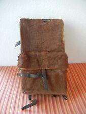 Vintage 1946 Swiss Army Cowhide Leather Backpack Rucksack Military Fur Rar