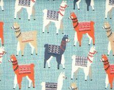 Fat Quarter Fabric Llamas With Blankets Alpaca Cute Novelty Cotton Material Fq