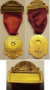 1948 55th Annual Central NY Firemen's Convention Corning NY Ribbon Medal