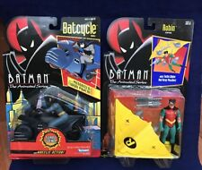 1992 Batman the Animated Series Batcycle and Robin action Figure Set