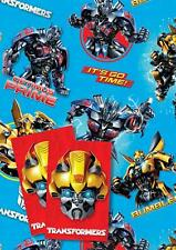 Official TRANSFORMERS Gift Wrapping Sheets + Tags x  2 Bumblebee Optimus Prime