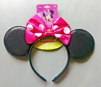 Minnie Mouse Girls Headband with Ears and Pink Bow