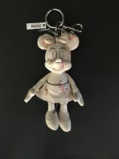 Disney Coach Minnie Mouse White Floral Doll Handbag Charm Keychain Limited New