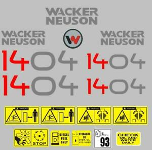 Decal Sticker Graphics set for WACKER NEUSON 1404   Mini Digger Bagger Pelle