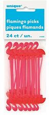 Plastic Flamingo Cocktail Sticks, Pack of 24 BRAND NEW FREE SHIPPING