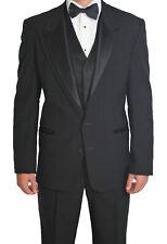 52R Black Oscar de la Renta Renaissance 2 Button Wool Tuxedo Jacket Made in USA