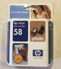 HP 58 Ink Cartridge Tri Color OEM Genuine New Expired 2004 C6658AN BOX
