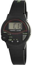 Sprechende Uhr mit Silikonarmband Dornschließe Blindenuhr Senioren Digital