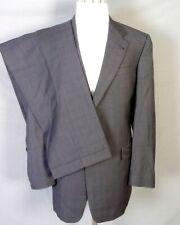 euc Hart Schaffner Marx HSM Gray Glen Plaid 100% Wool 2 Pc Business Suit sz 44 L