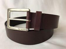 Tumi Mens Cordovan Red Leather Dress Belt Golf Casual Silver Buckle 44 46 XL XXL