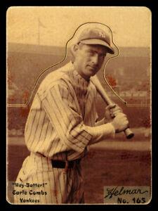 R318-Helmar Hey-Batter! #165 Earle COMBS New York Yankees HOF