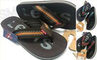 New LEVI'S Flip Flops Sandals Slides Shoes Men's UK Size XL (UK 6 to 10) Black