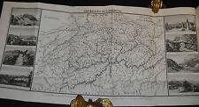 Martin – L'hermite en Suisse – Band 1 – 1829 – Karte mit Randansichten