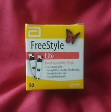 FreeStyle Lite Blood Glucose Test Strips x50. Factory Sealed. FAST DESPATCH!