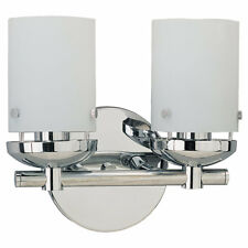 Sea Gull Lighting 40044-05 Bliss Two-Light Vanity, Chrome Finish with Cased Opal